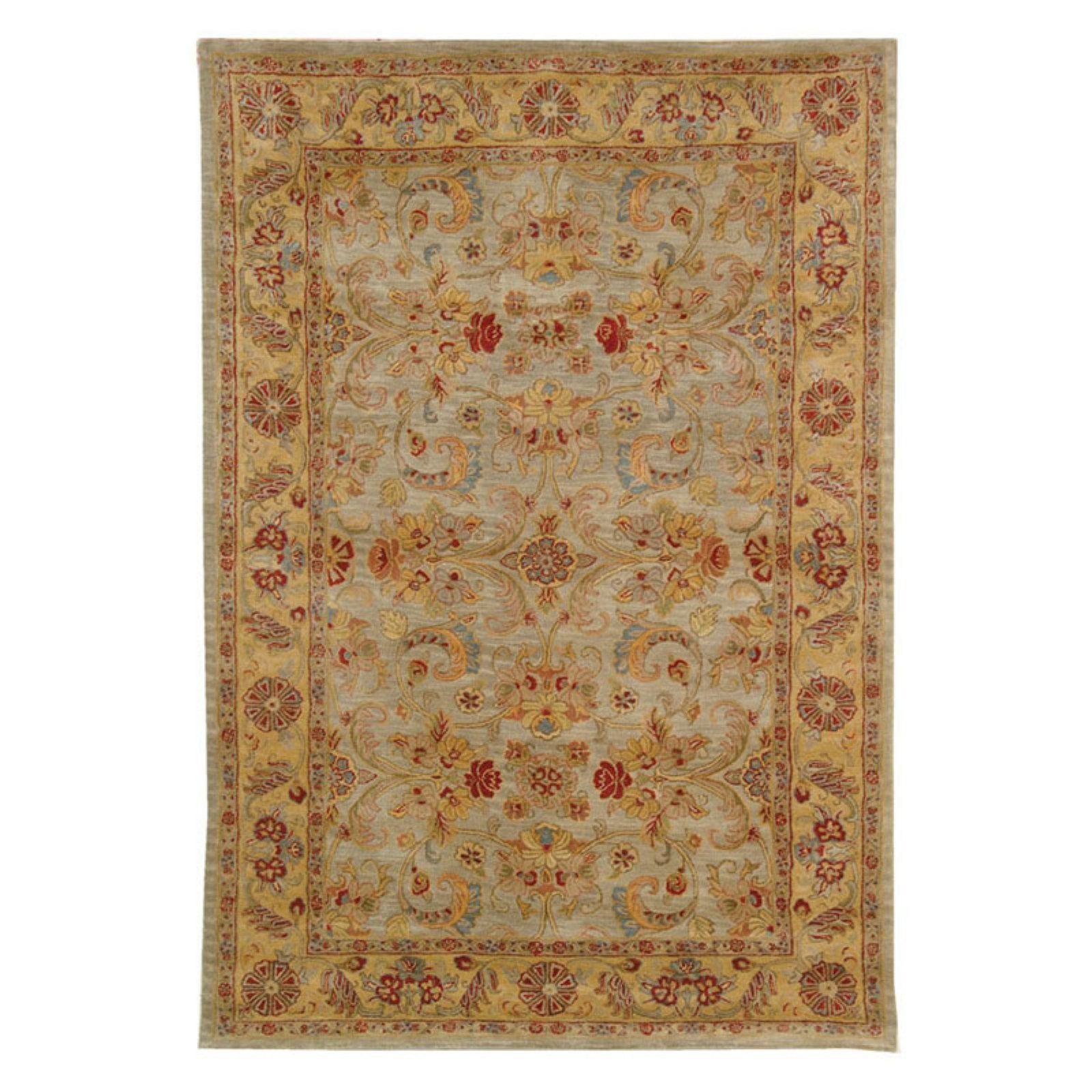 Kerman Oriental Rug Wool Area Rugs