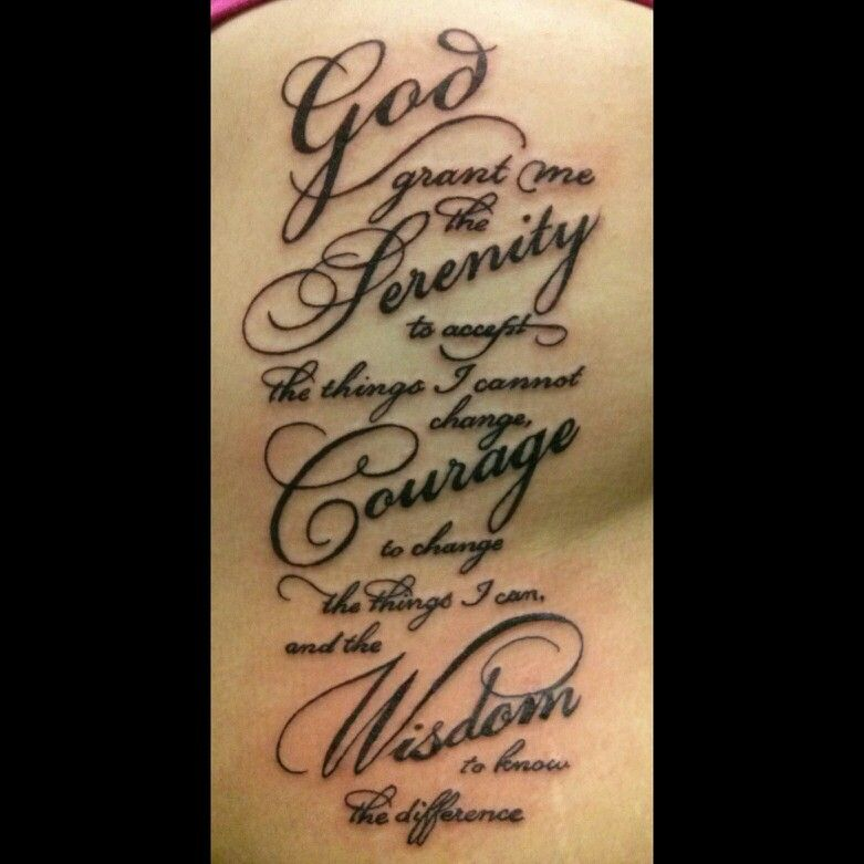 Shoulder Tattoo Quote Ribcage Serenity Prayer: Pin By Janie Franco On My Favs