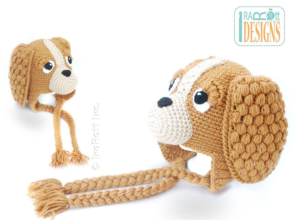 CoCo the Spaniel Puppy Dog Hat PDF Crochet Pattern - IraRott Inc ...