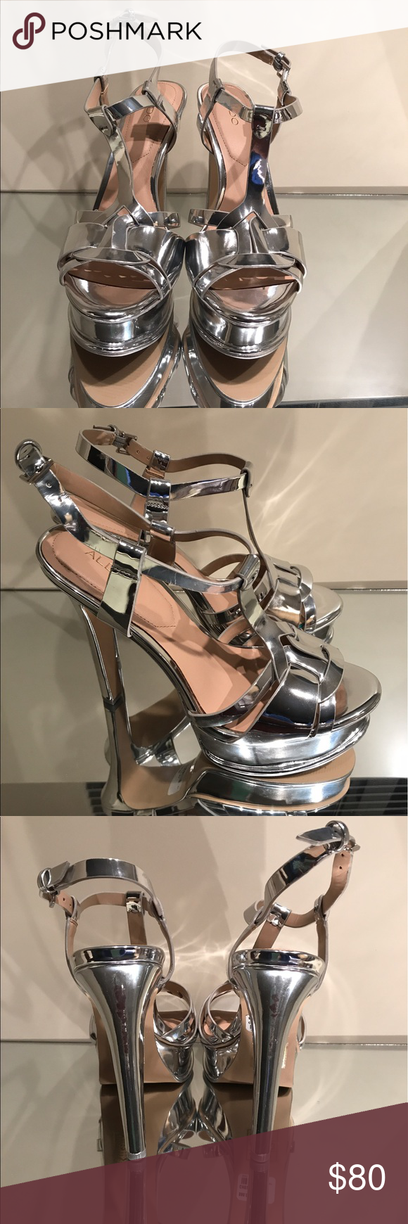 c58c89cbc11 Aldo Silver Platform Chelly Tribute Sandals Perfect dupe for YSL tribute  Sandals without the hefty price tag Aldo Shoes Heels