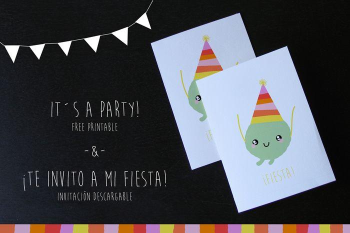 Kawaii birthday invitation - Free - Download Children´s party - invitation free download