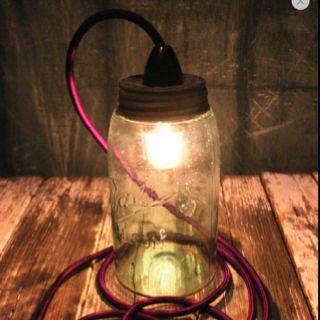 Cool DIY jar lamp.   Duckfat.com.au