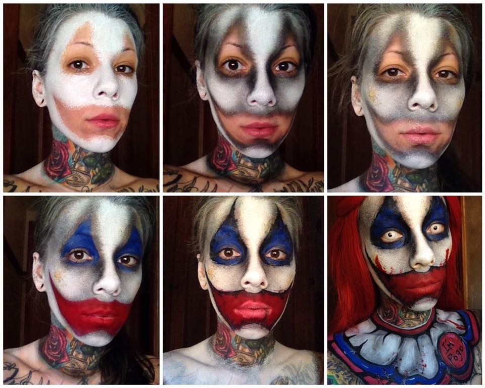 terrifying but incredible face painting by michelle. Black Bedroom Furniture Sets. Home Design Ideas