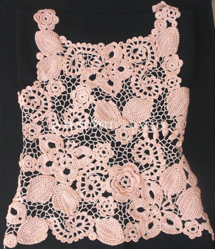 Pin de María Vega en Facebook | Pinterest | Crochet irlandés, Buscar ...