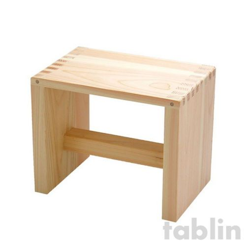 Japanese Hinoki bath chair natural wood Stool yc H21cm