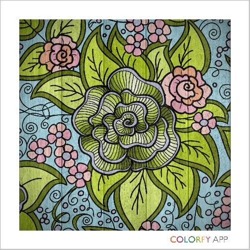 Colorfy wooden green hombre rose