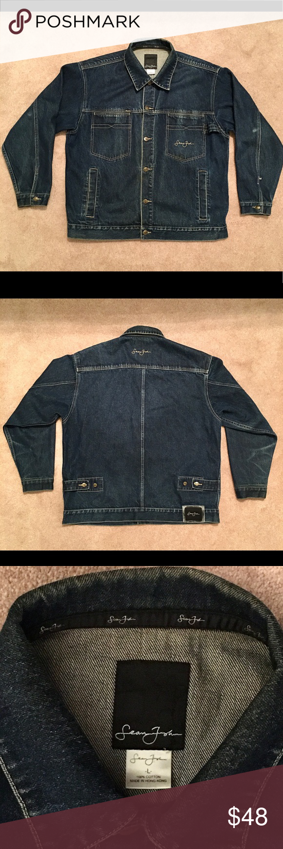 Men S Sean John Jean Jacket Sean John Jeans Jackets Jean Jacket [ 1740 x 580 Pixel ]