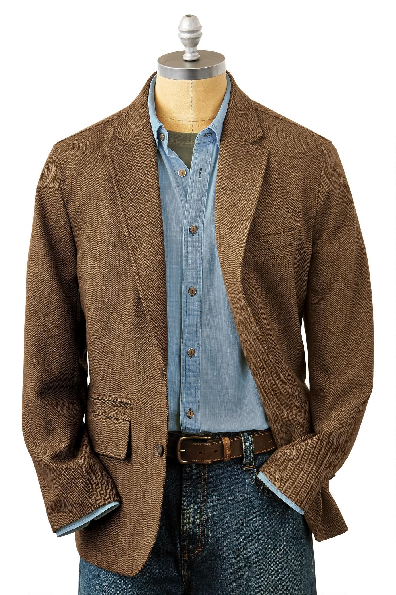 e944f954c The Back East Washable Herringbone Travel Blazer: Exceptional Casual  Clothing for Men & Women