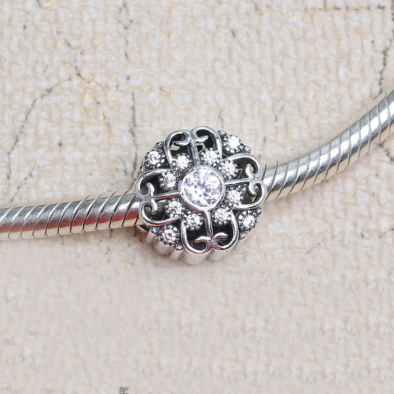 a6235fa36 Free Shipping Fairytale Bloom Charm 925 Sterling Silver European Beads Fit  Pandora Bracelets &Necklace SP00165