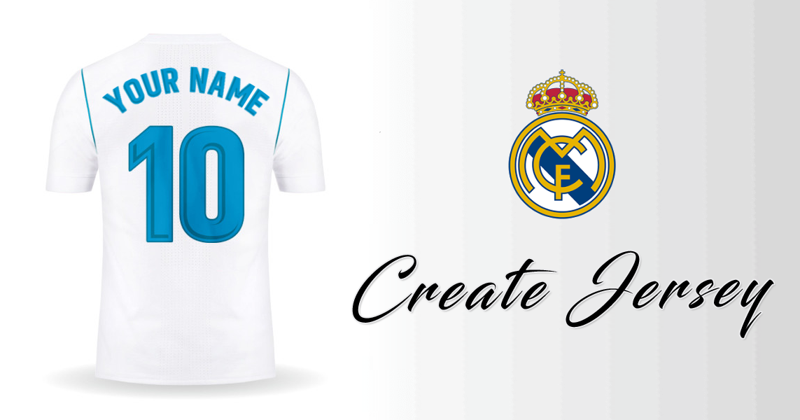 5e5e47f085 Create Real Madrid CF 2017 2018 jersey with your Name