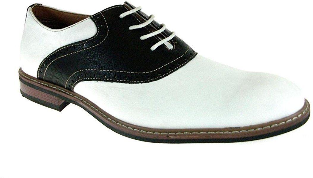 be89006ce5c88 Amazon.com   Ferro Aldo Men's 19268A Two Tone Saddle Oxfords, White ...
