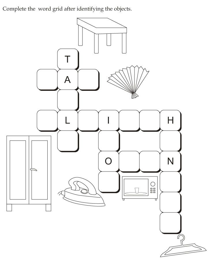 Download English Activity Worksheet Complete The Word Grid After Identifying The Obj English Activities English Worksheets For Kids Writing Practice Worksheets