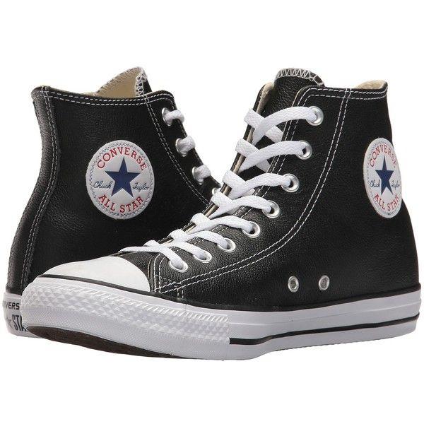 f9df929e47c8 Converse Chuck Taylor(r) All Star(r) Leather Hi (Black) Classic ...