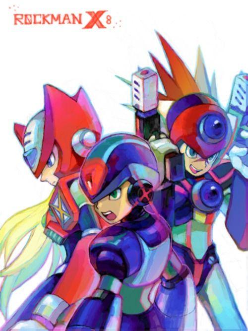 Megaman X Zero Axl Buscar Con Google Mega Man Art Mega Man Fighting Robots