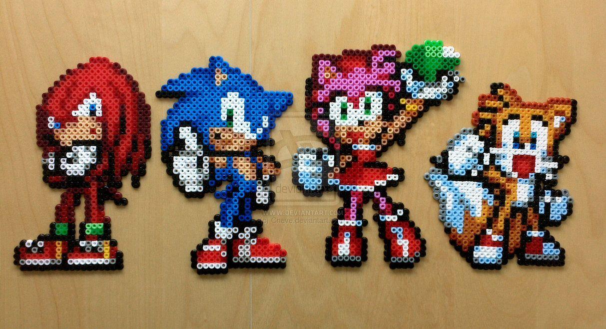 Sonic Advance 3 Perler Bead Sprites By Cheve Perler Beads Perler