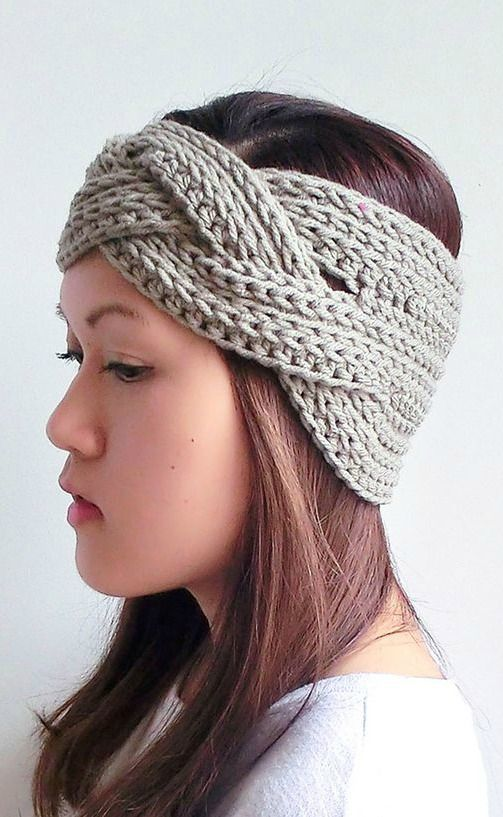 braided crochet headband | Faixas Headbands | Pinterest | Stirnband ...
