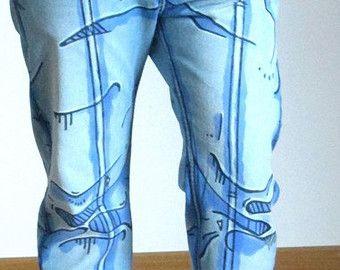 Cel shading Jeans/Pantalons | Etsy