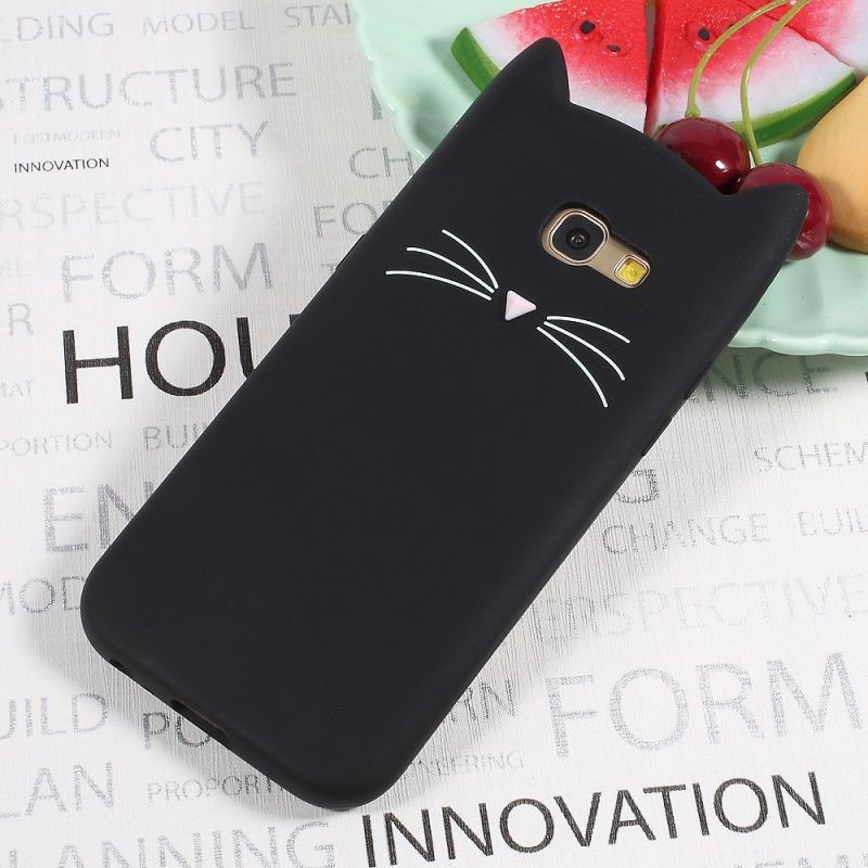 Online Shop Dulcii For Samsung Galaxy A5 2017 Case A3 2016 S6 S7 S8 J3 J5 J7 2017 J7 Prime Note 8 Case 3d Mustac Cats Phone Case Animal Phone Cases Phone Cases