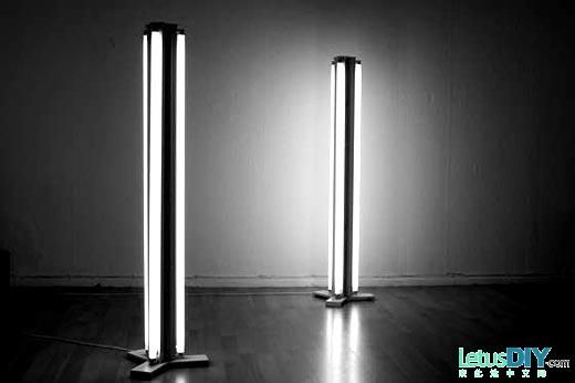Change Daylight Lamp Into Floor Lamp      LetusDIY.ORG DIY