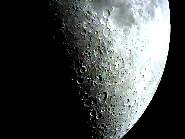 Great shadows in the craters last night 08/02/2014  I shot this with