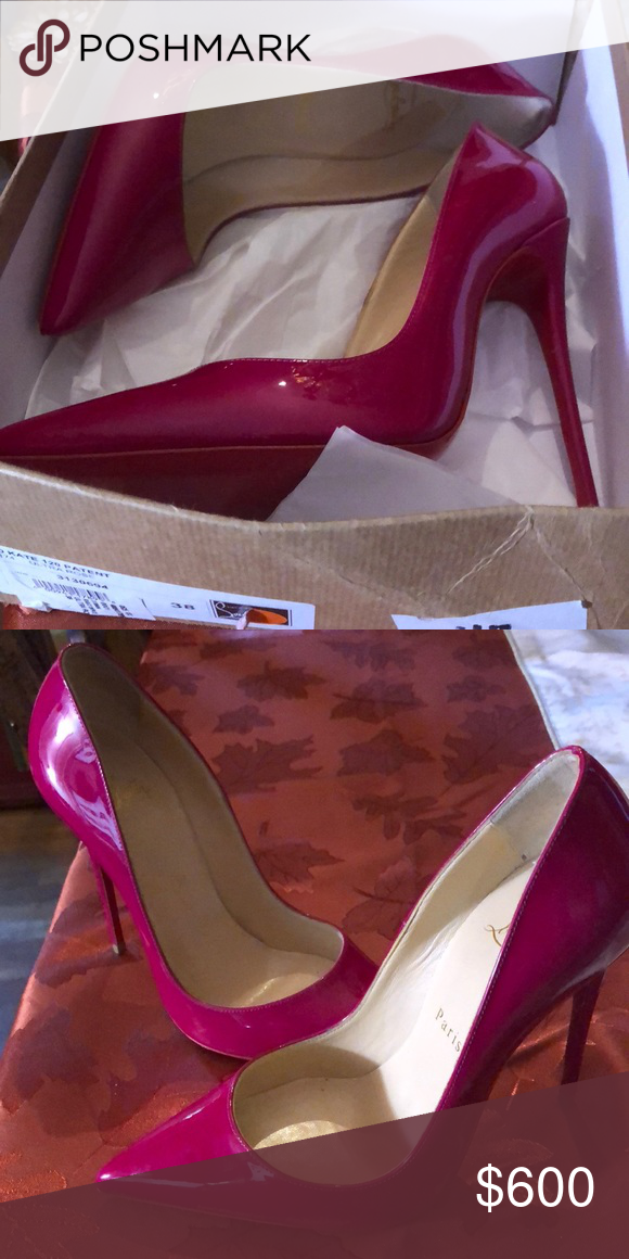 4a37e9aef1bc So Kate 120 Patent Ultra Rose Christian Louboutin 120 Patent Leather