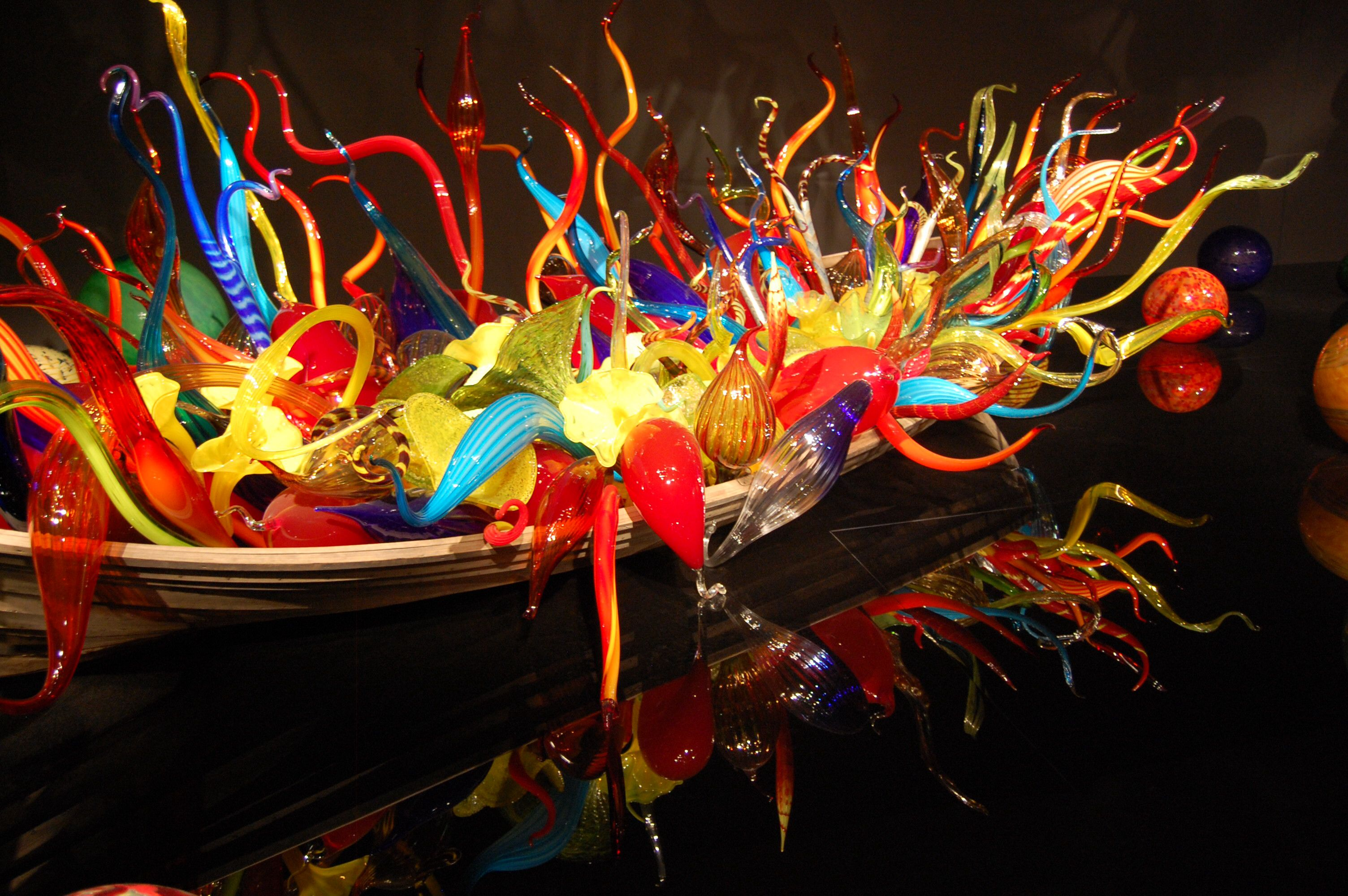 Chihuly exhibit at VMFA.