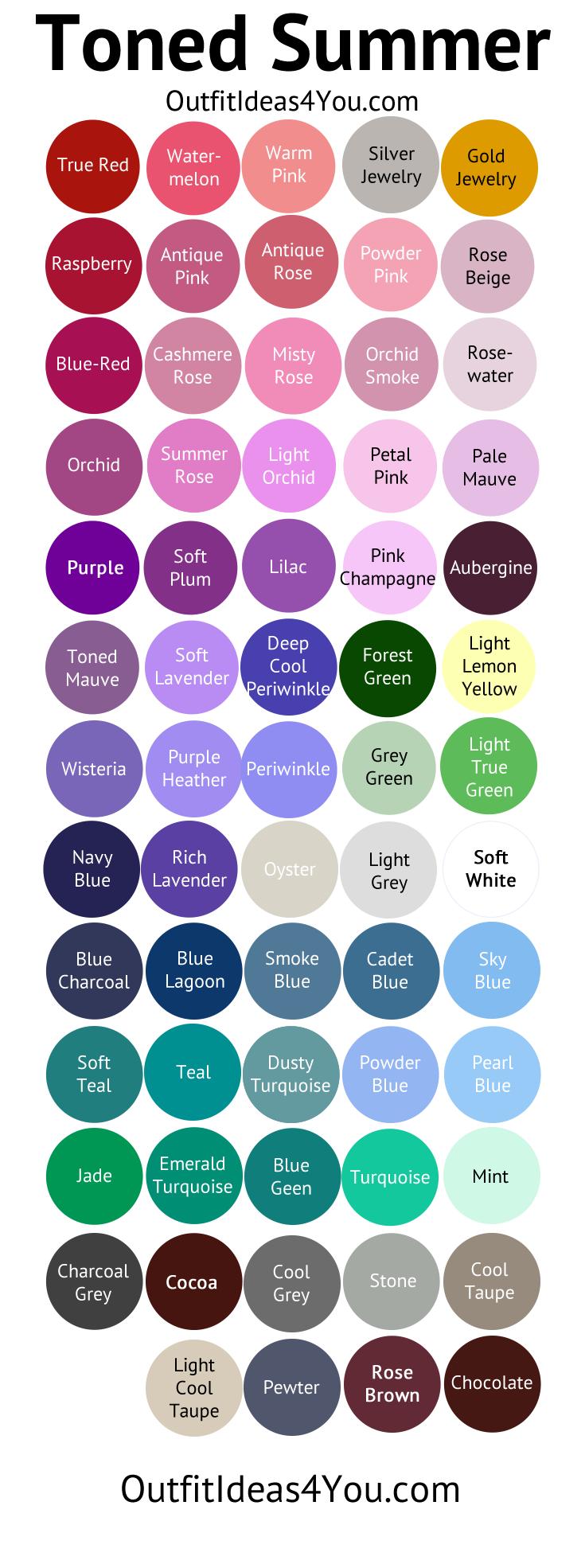 Toned Summer Color Palette (Soft Summer Light In 2019