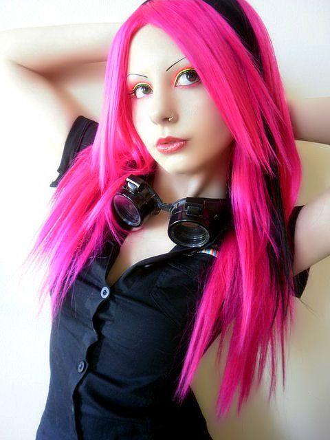 Gorgeous Hot Pink Hair Hot Pink Hair Goth Hair Scene Hair