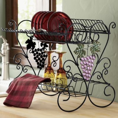 Grape beaded dish rack