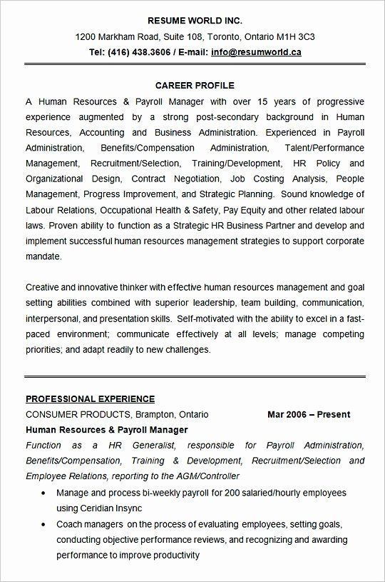 Human Resources assistant Resume New Hiring Manager Resume