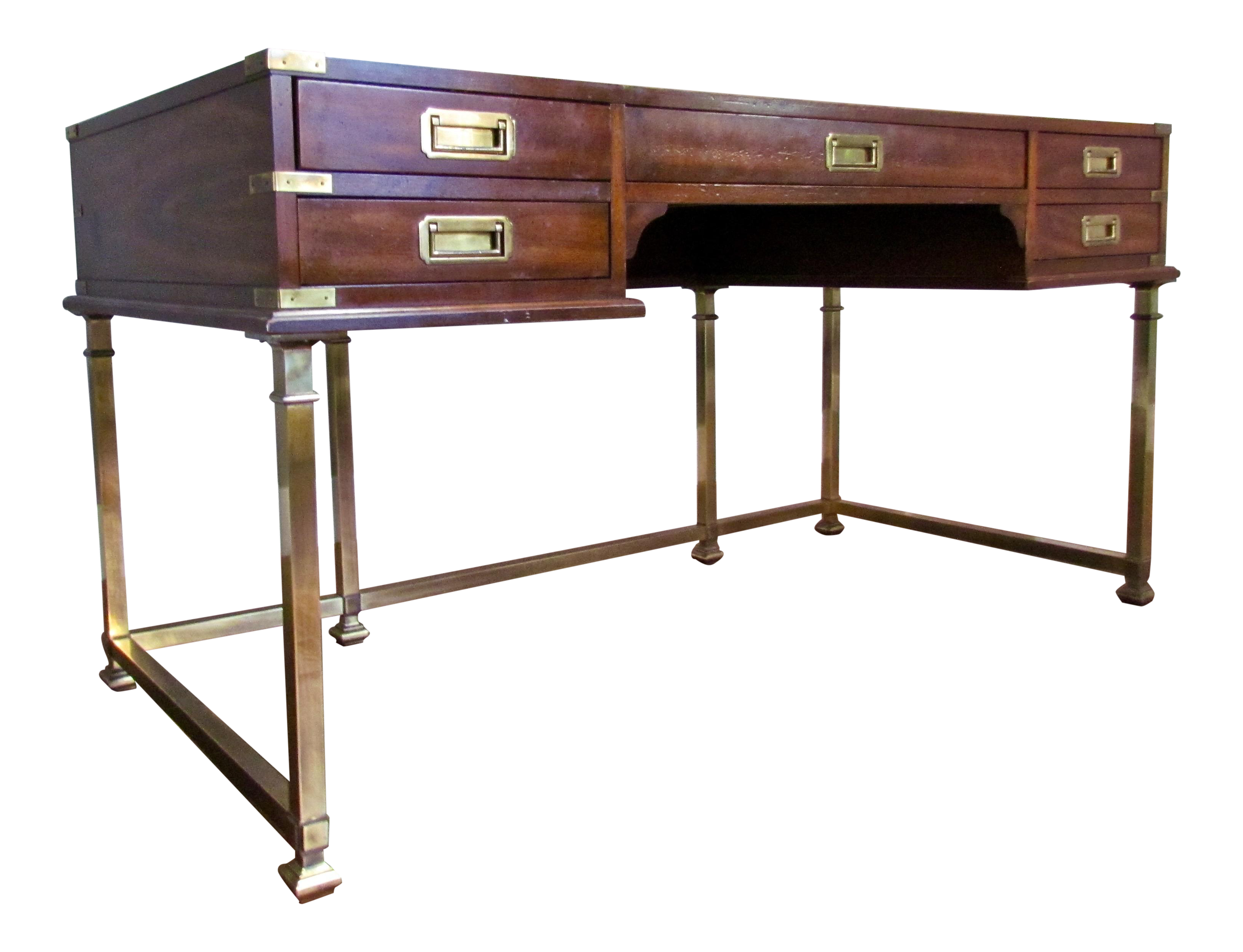 Mid Century Modern, Campaign Style Desk, By Sligh Furniture Company Of  Holland