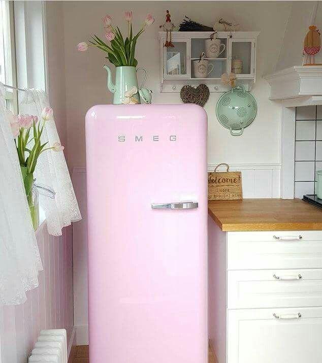 Pink fridge! | House Goals | Pinterest | Interiors, Kitchens and ...