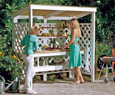 outdoorküche bauen | outdoor küche, gartenbar und outdoor, Kuchen deko