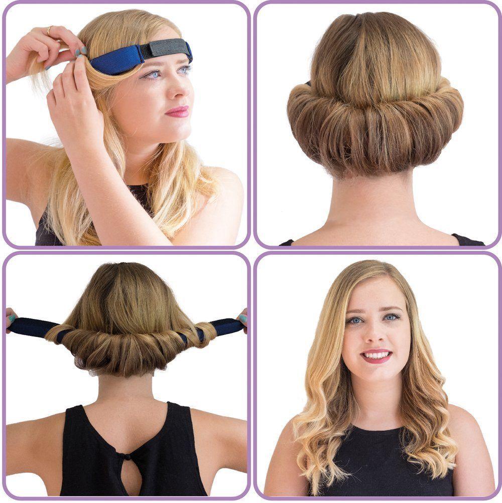 GlamWaves Haarband Zum Eindrehen Der Frisur Fur Kurze Bis Mittlere Haarlange Geeignet Amazon