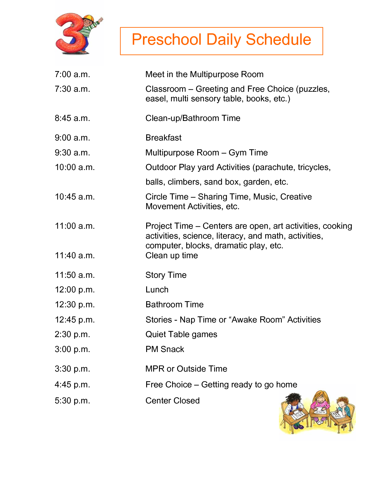 preschool daily schedules half day preschool daily schedule submited images 437