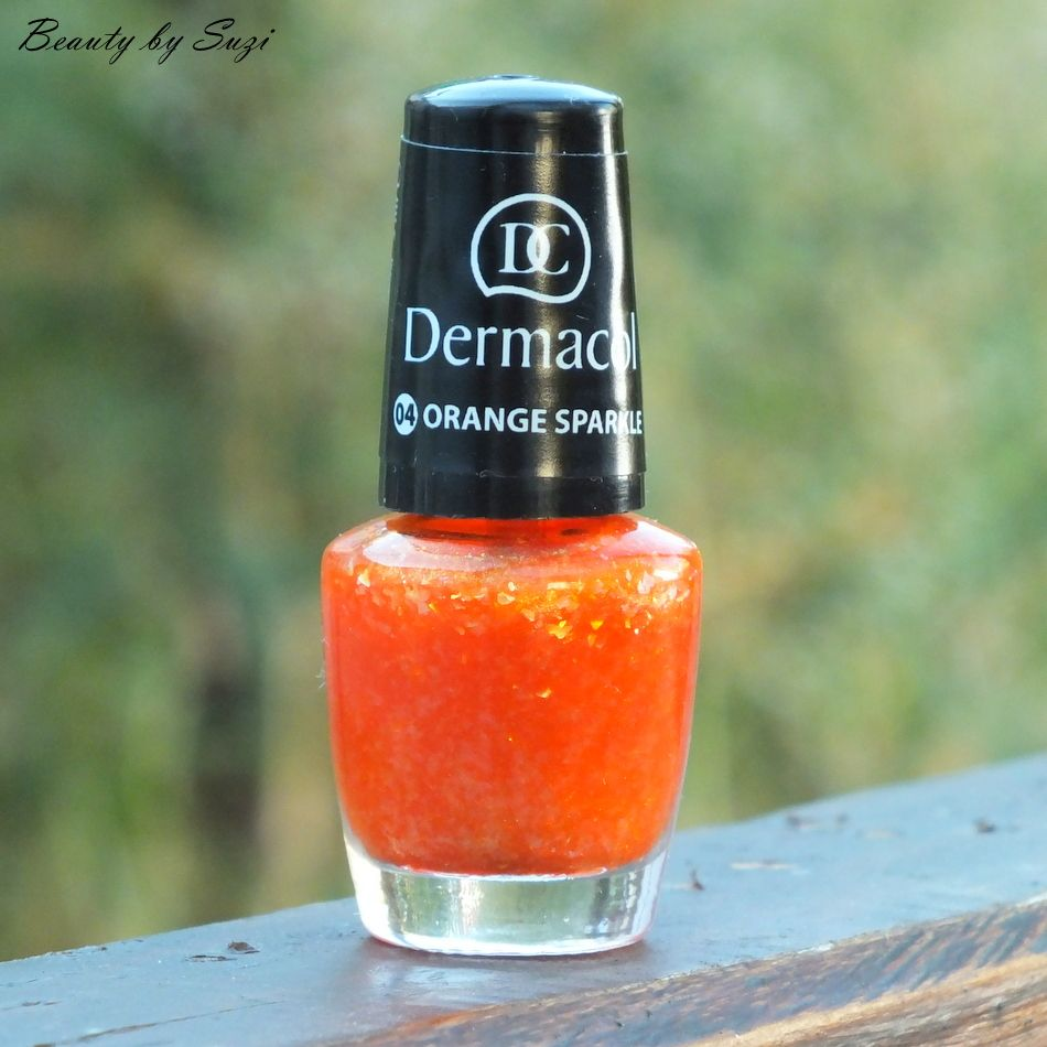 Dermacol Nail Polish With Effect, 04 Orange Sparkle