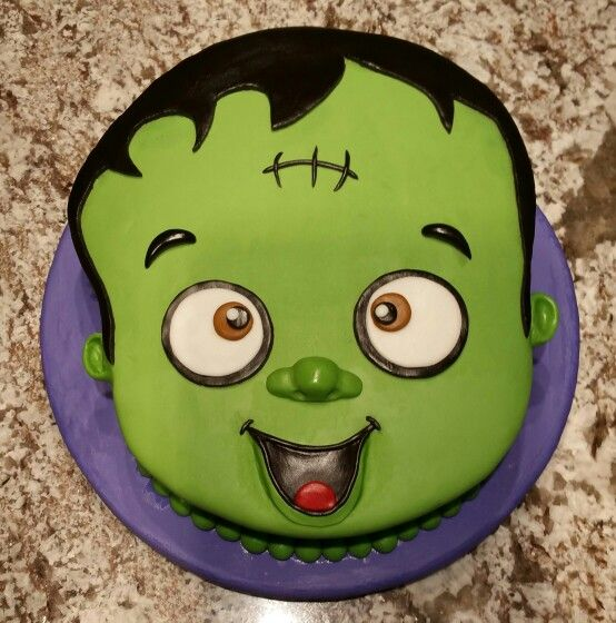 Baby Frankenstein Birthday Cake By Denise Rico Cakeswebake