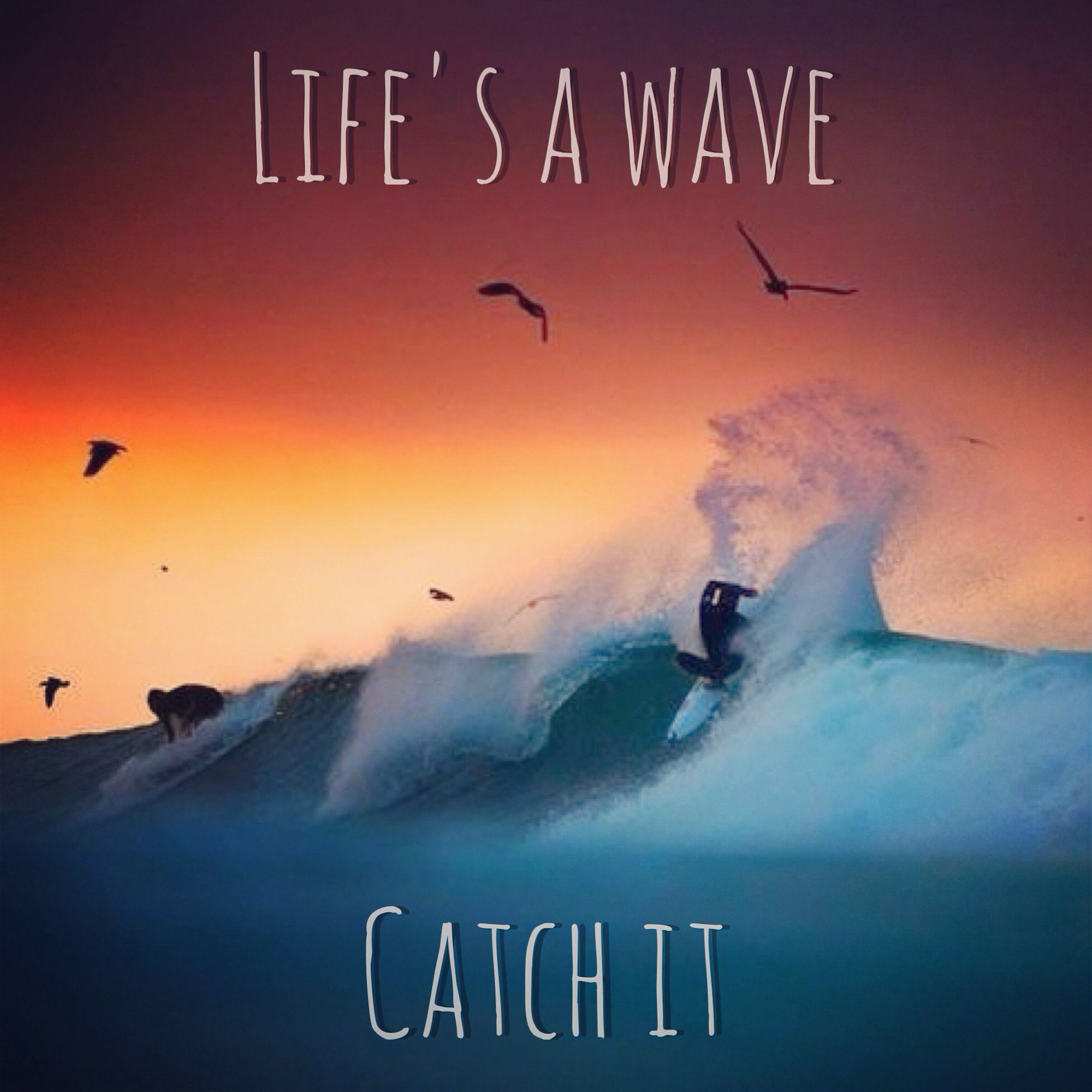 Waves Quotes: Life Is A Wave~Catch It #quote #surfing #waves #ocean