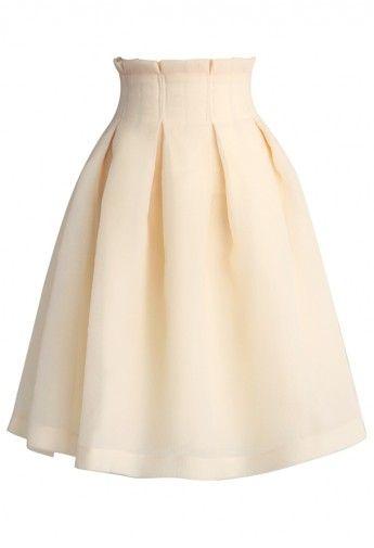 The Lithe Dance Tulle Skirt in Light Beige