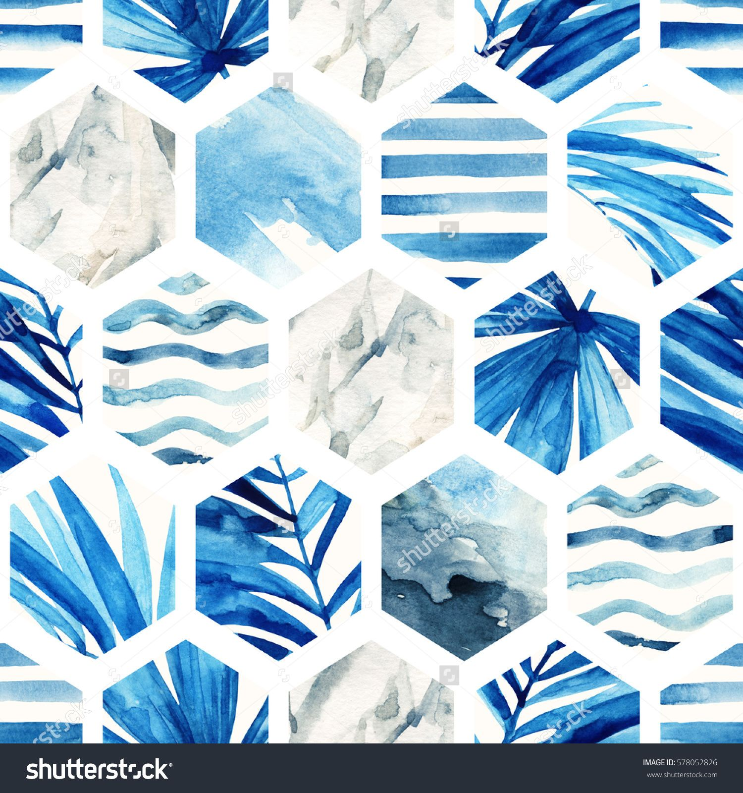 Abstract geometric seamless pattern on light background