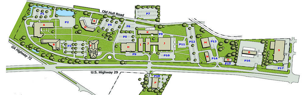 Athens Technical College Main Campus Map (Athens, GA