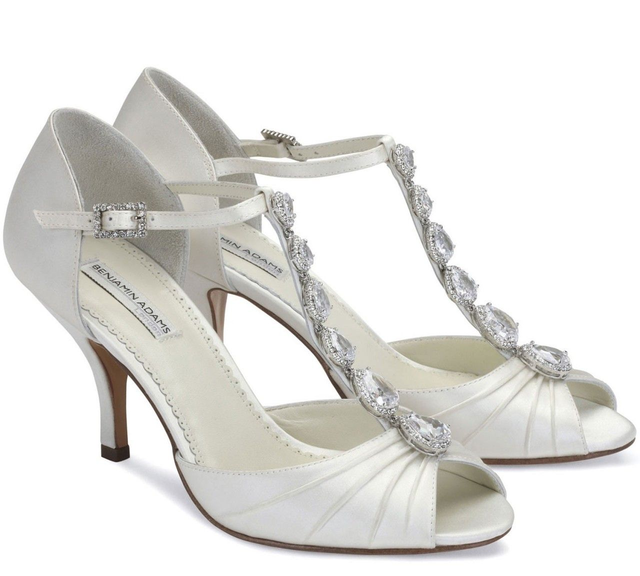 3 Inch Heel Wedding Shoes Benjamin Adams Mia
