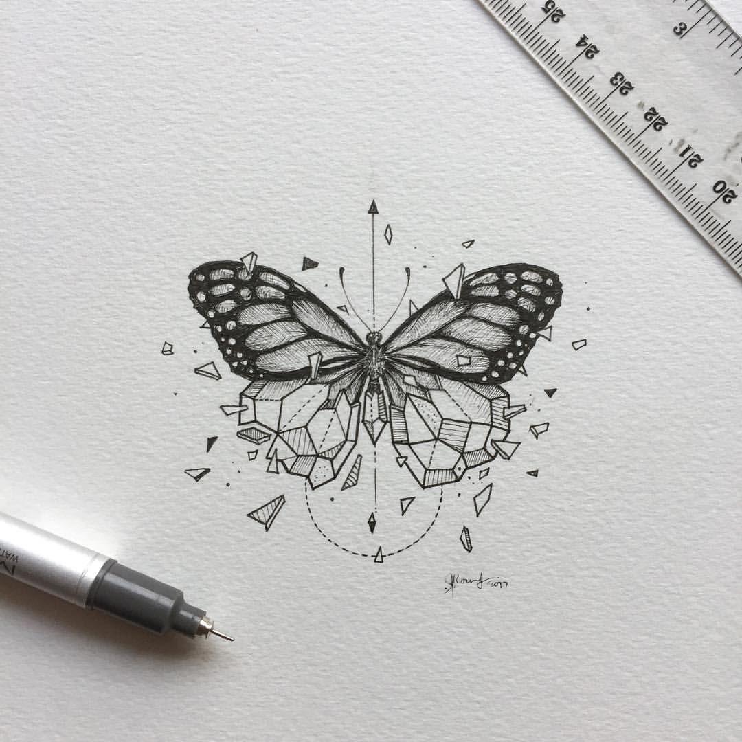 geometrie tiere schmetterling tattoo ideas. Black Bedroom Furniture Sets. Home Design Ideas