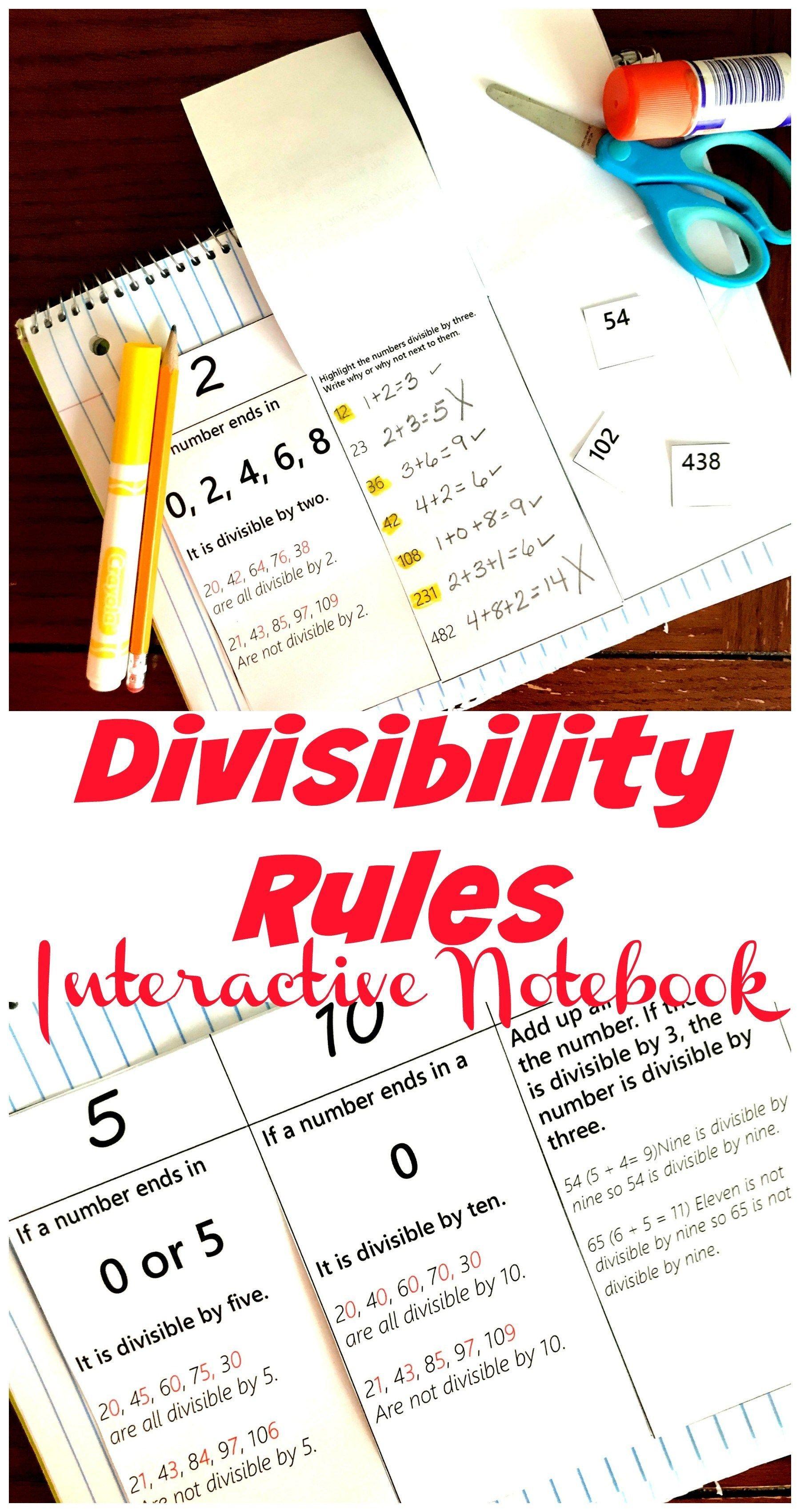 Free Hands On Divisibiltiy Rules Worksheet For 2 3 6 5