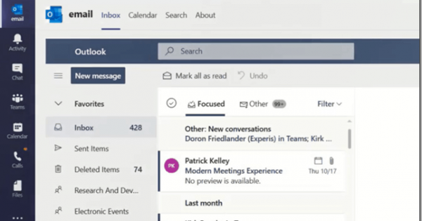 Adding Outlook Email and Calendar App to Microsoft Teams