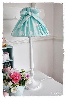 VELKOMMEN HOS INDRETNING MED FARVER.: Nellie mint lampeskærm...