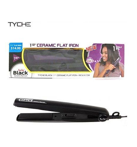 Tyche Black Ceramic Flat Iron 1 1 2 This Is An Amazon Affiliate Link Want To Know More Click On Ceramic Flat Iron Hair Straighteners Flat Irons Hair Tools