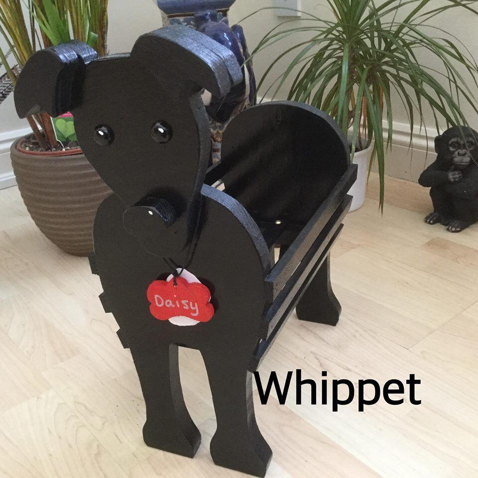 Wooden Pet Planter Pet Toy Holder Whippet Design Ornament Etsy Wooden Garden Ornaments Whippet Pet Toys