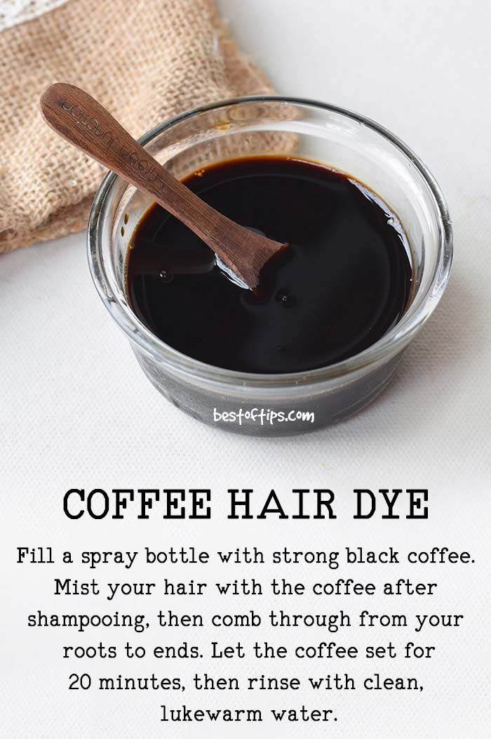 HOW TO DYE HAIR WITH COFFEE - BestOfTips #hairstuff
