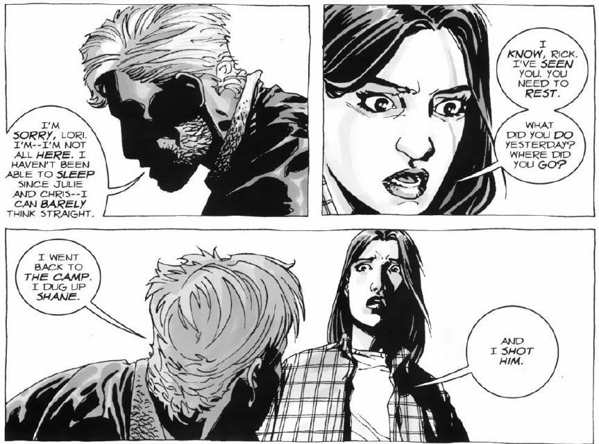The Walking Dead Comics Quote I Dug Up Shane And I Shot Him